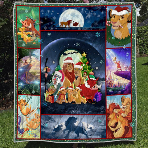 Image of MERRY CHRISTMAS LION 3D QUILT
