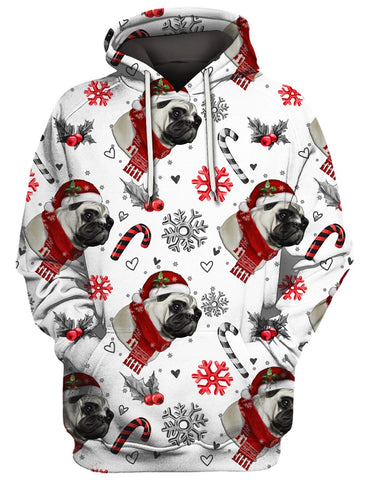 Image of THE PUG CHRISTMAS 3D Tee