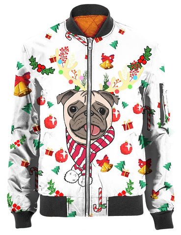 Image of THE PUG PATTERN 2 CHRISTMAS 3D Tee