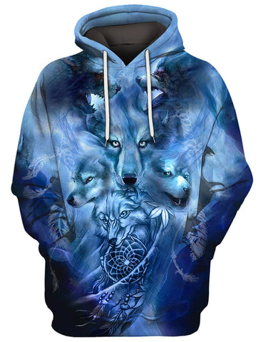 Image of BLUE WOLF 3D TEE