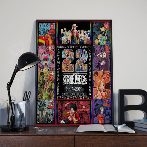 HAPPY BIRTHDAY 22th One Piece 3 Poster
