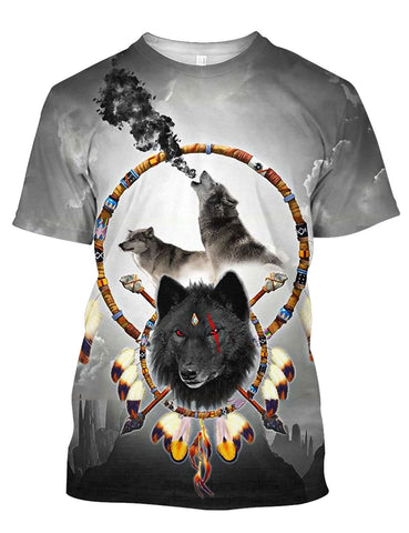 Image of DREAM BLACK WOLF 3D TEE