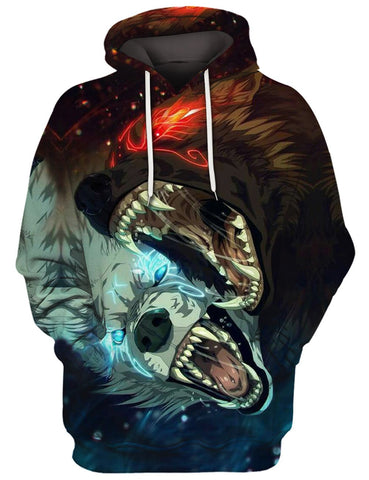 Two Angry Wolves 3D Tee