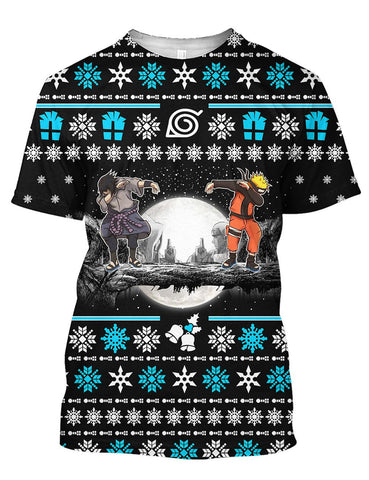Christmas Sasue Nar Ugly 3D Tee