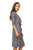 Women's 3/4 Three Quarter Sleeve Midi Dress with - YouSwanky