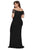 Black Off Shoulder Plus Size Prom Dress - YouSwanky