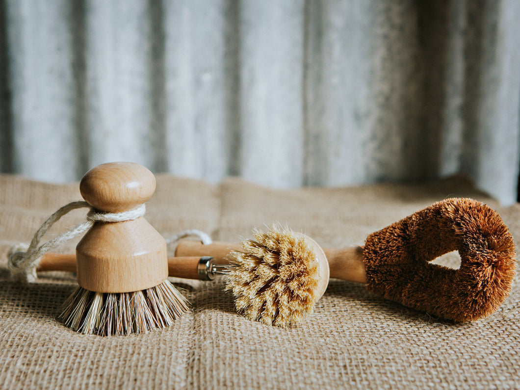 Natural Dish Brushes Set Of 3