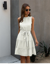 Robe Blanche Courte Hippie Chic  | Bohème Infinity