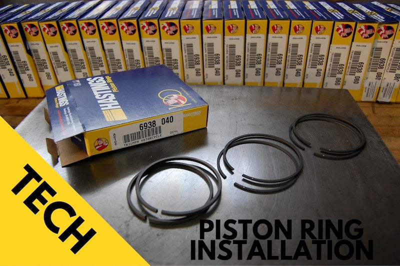 Hastings Triumph piston ring installation notes