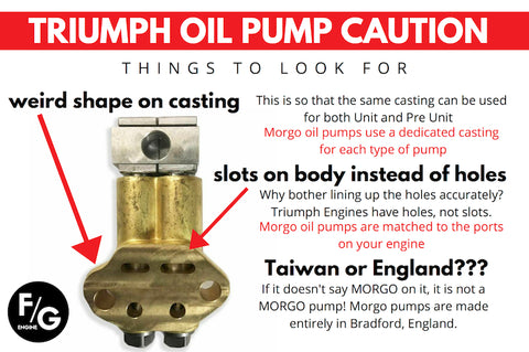 Triumph Oil Pump Caution