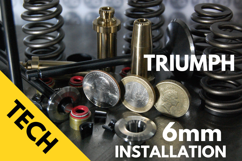 Triumph 6mm Valve Stem Conversion Kit 650 and 750