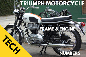 Triumph motorcycle engine and frame numbers