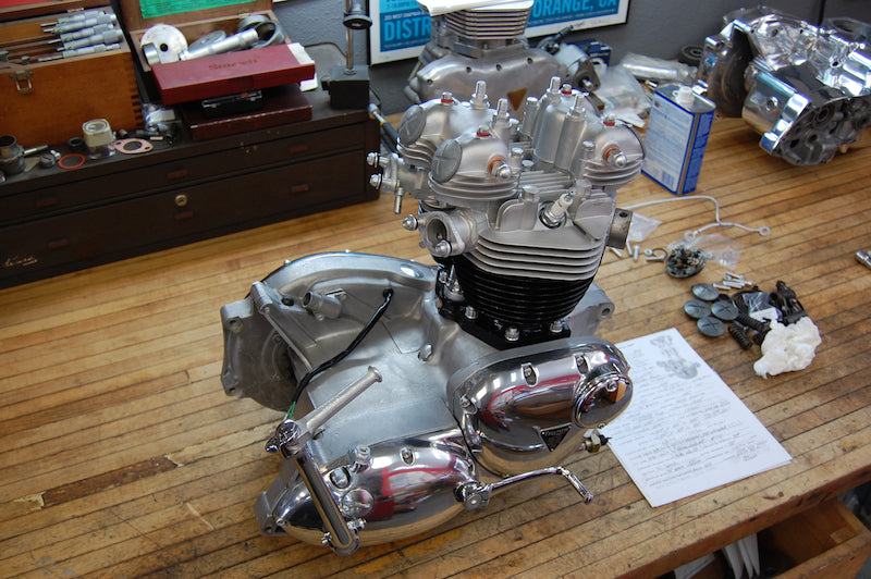 1969 Triumph Bonneville engine restored