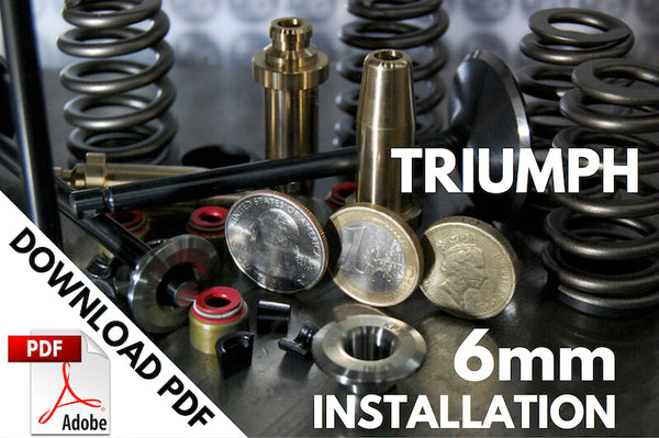 Triumph 6mm valve stem Instructions