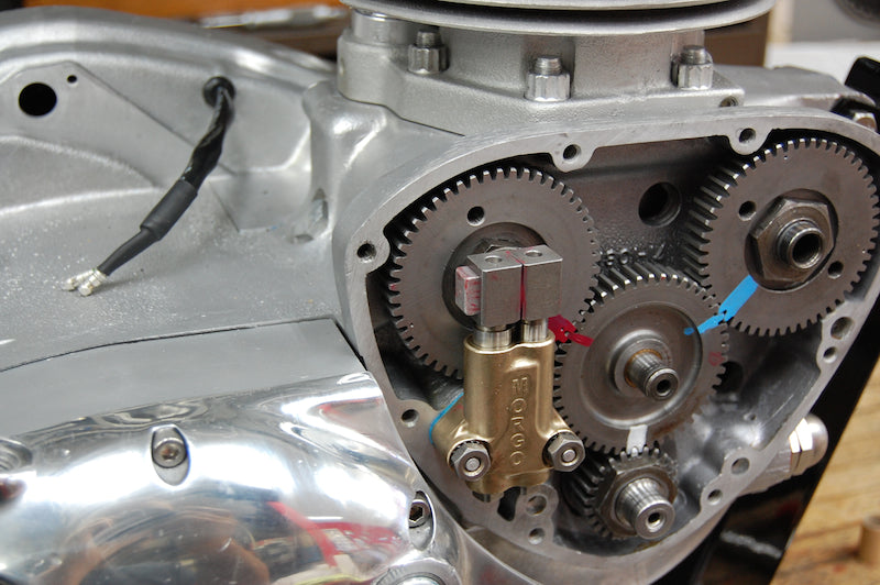 Triumph cam wheel timing marks