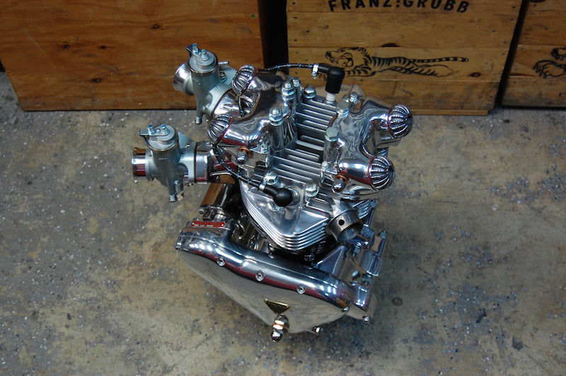 Pre unit Triumph polished engine