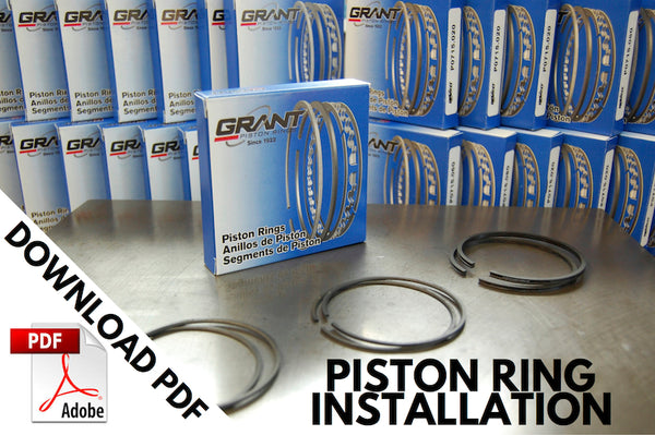 For Triumph Grant piston ring installation notes click here