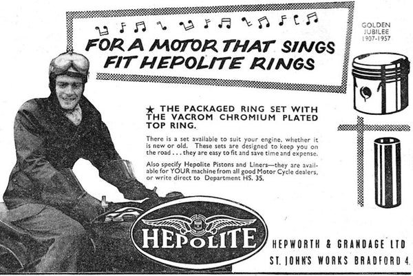 Hepolite ad with motorcycle