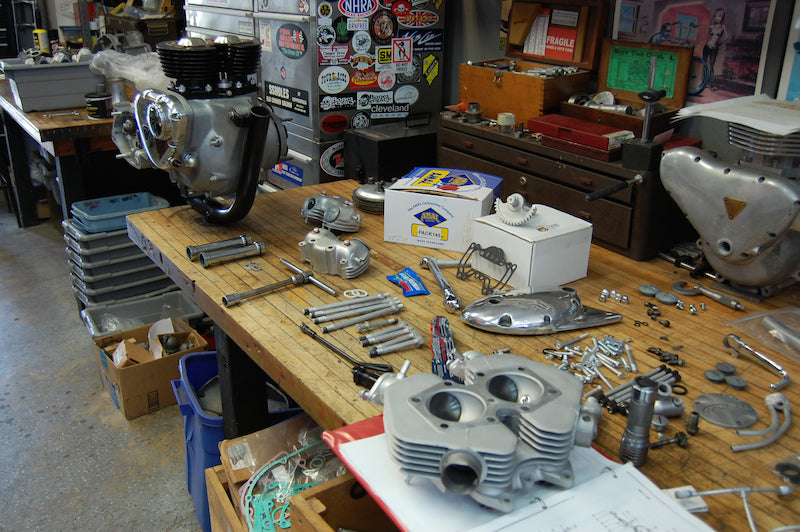 Triumph engine shop workbench