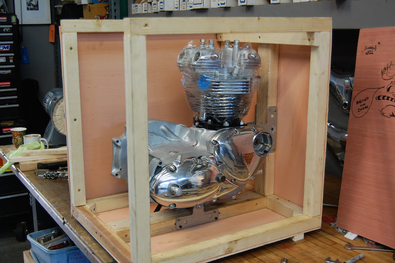 Triumph crate engine vintage