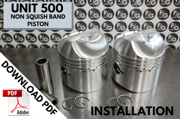 Triumph Unit 500 piston instructions
