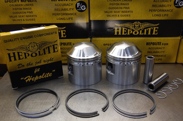 Hepolite Triumph piston set for 650 engines with rings
