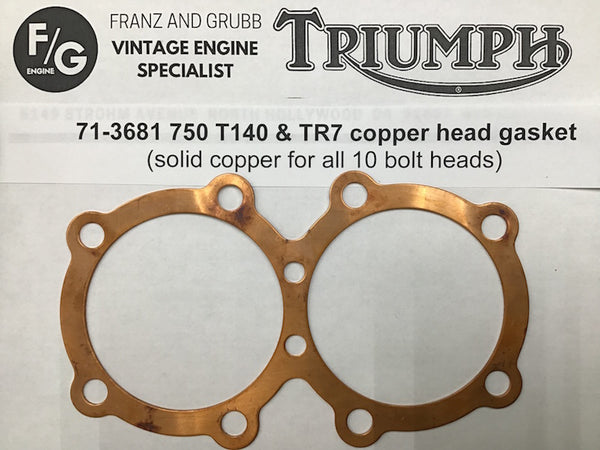 Triumph Twin copper head gaskets