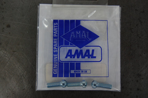 Amal monobloc float cover screw set