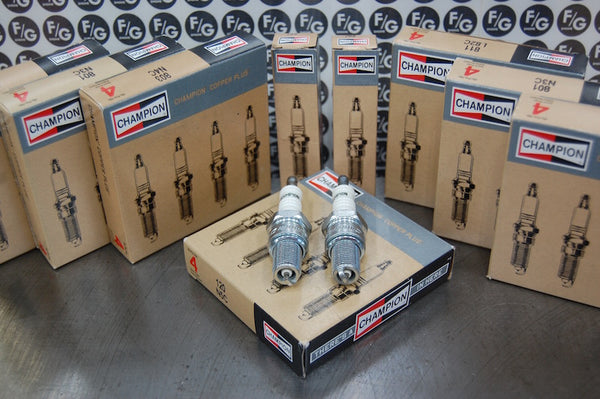 Champion spark plugs for vintage Triumph motorcycles, with new for 2020 packaging