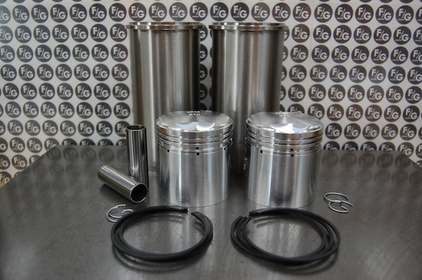 Triumph 500 pre unit 63mm low compression pistons and sleeves with rings