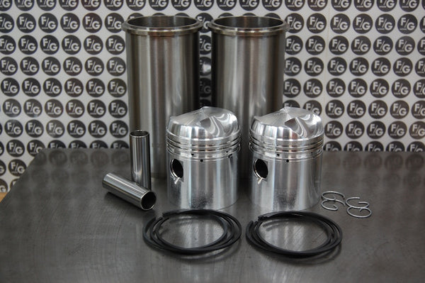 Triumph 500 pre unit 63mm high compression pistons and sleeves with rings