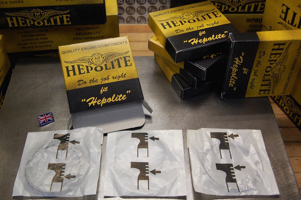 Hepolite piston ring individual packaging