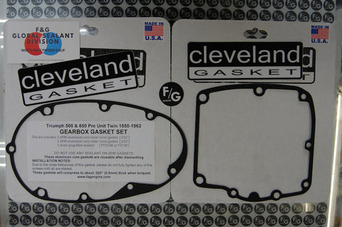 TRIUMPH PRE UNIT TWIN 1950-1962  GEARBOX GASKET SET