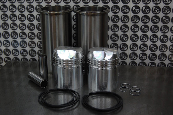 Triumph 500 pre unit 63mm pistons and sleeves with rings high comp