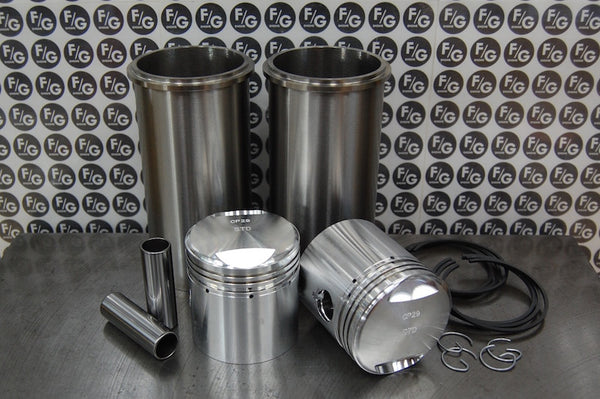 Triumph 500 pre unit 63mm pistons and sleeves with rings