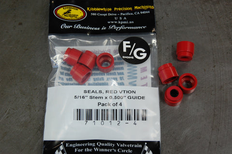 "Valve guide seals 5/16"" solid Viton"