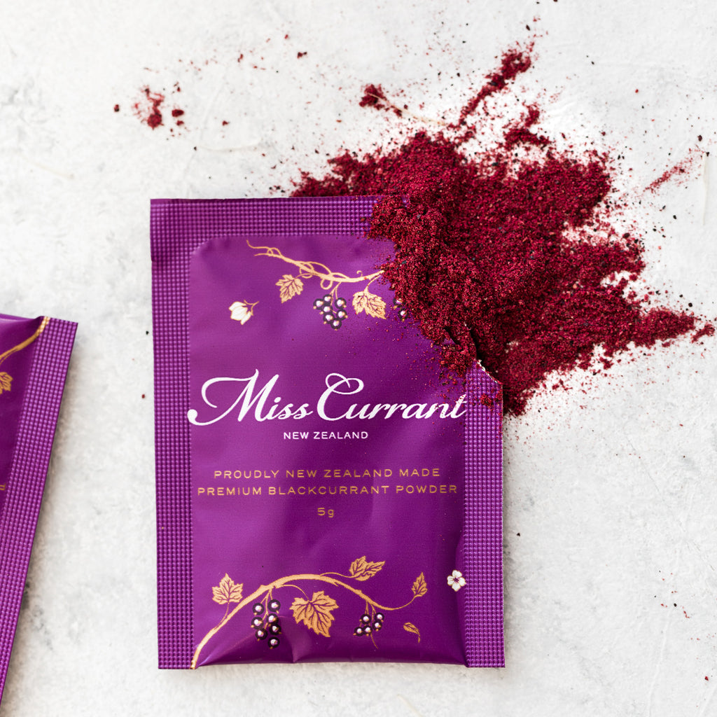 Miss Currant Premium Blackcurrant Powder 3 Sachet Sample Pack