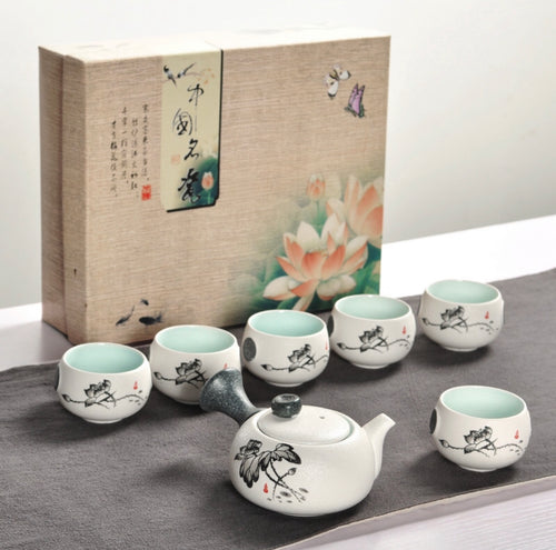 Ceramic tea set 🍵✨ - Archihomesb , homeproducts , kitchenware , tableware