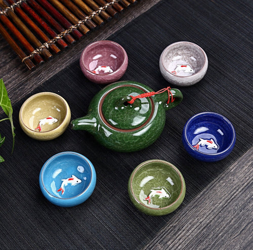 Ceramic tea set, multiple colors up for selection 🍵 ✨ - Archihomesb , homeproducts , kitchenware , tableware