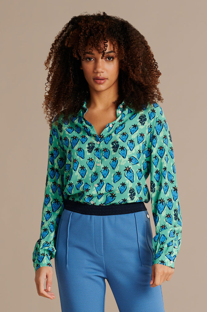 BLOUSE - Strawberry Blue