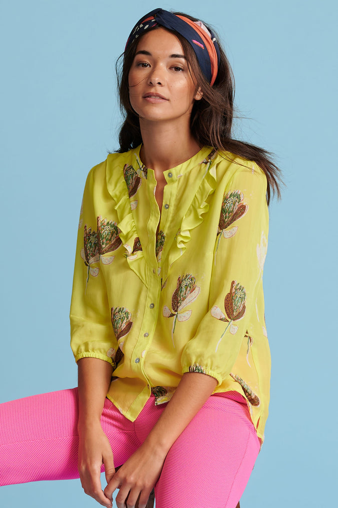 BLOUSE - Artichoke Lemon