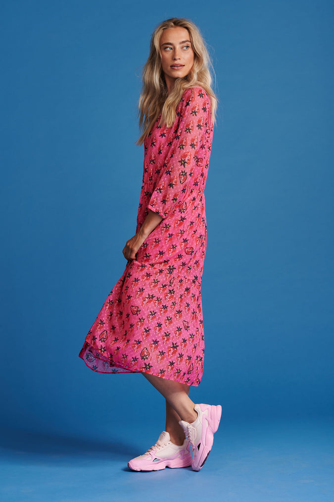 DRESS - Strawberry Pink