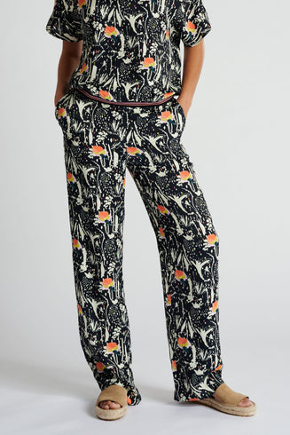 PANTS - Roses Midnight Blue