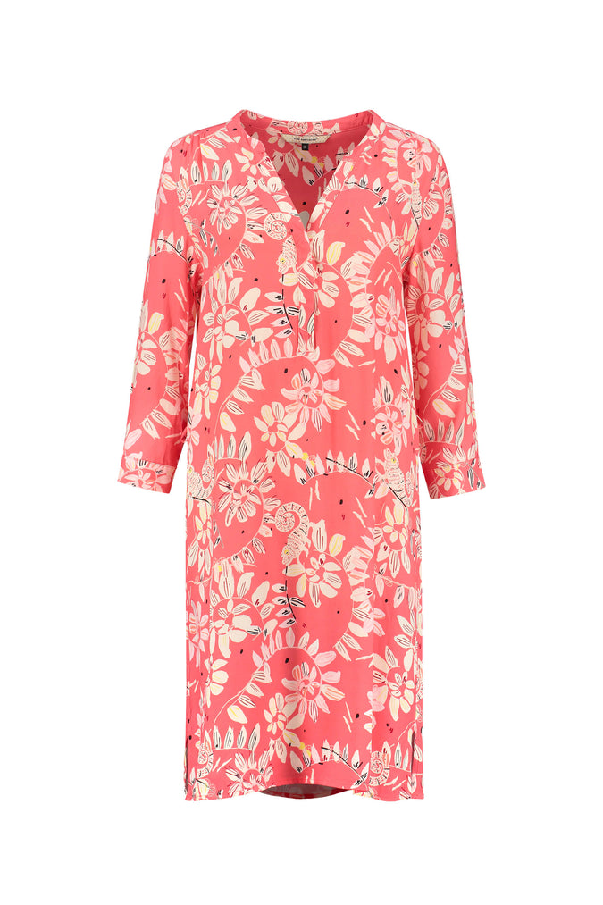 DRESS - Bouncing Leaves Coral