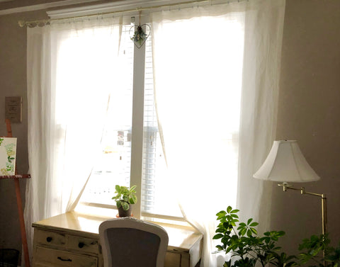 Shielding Curtains -- block radiation out, allow daylight in!