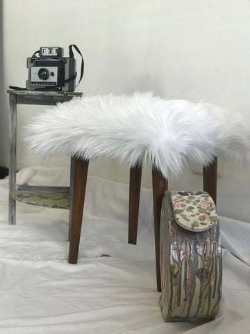Faux Fur Dresser Stool