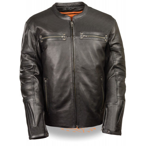 Throwback Scooter Men Leather Jacket - leather-products-shop