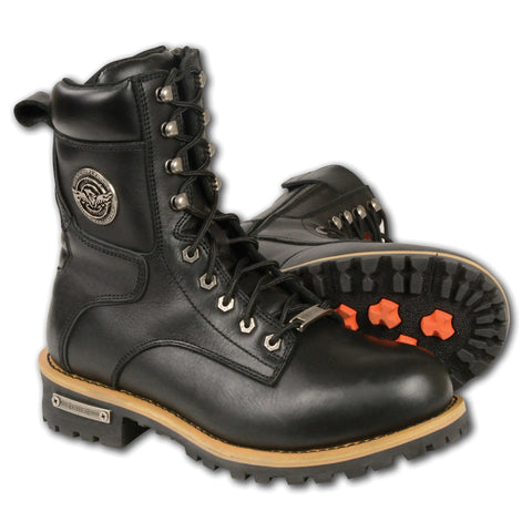 Logger men boots w/ Lace to Toe Design - leather-products-shop