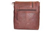 Brown flap cover leather bag - leather-products-shop
