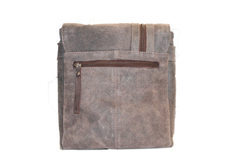 Suede  leather bag - leather-products-shop